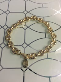 "18k GPL Beautiful Bracelet 8"" 8mm"