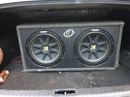 Speakers/sub woofers 2 12's