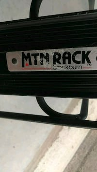 Mtn black burn back bike rack