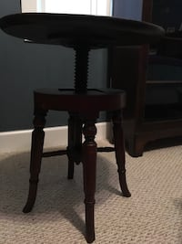 RARE Antique 1825 Regency mahogany table w/screw-adjustable top Hartfield, 23071