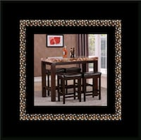 5pc pub dining table with 4 stools 53 km