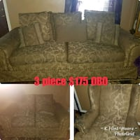 brown and gray floral fabric sofa set Houston, 77088
