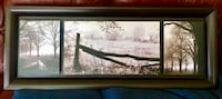 black wooden framed painting of trees Bolton, L7E 4Z4