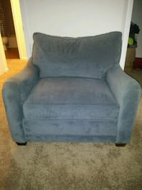 grayish blue suede sofa chair  Alexandria, 22309