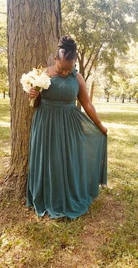Dark Green bridesmaids/Prom Dress