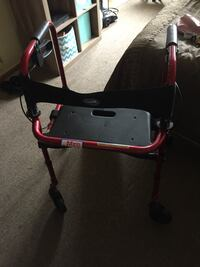 Adult's red and black rollator Kettering, 45419