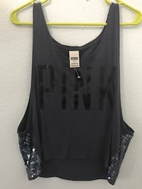 PINK sequin tank Waterford, 95386