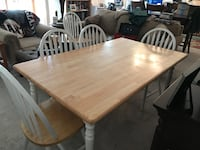 Dining room table, pine, with five chairs Santa Clarita, 91355
