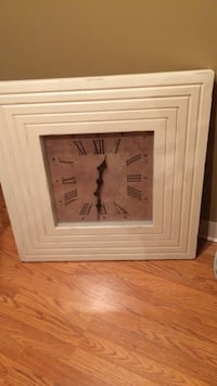 White framed analog wall clock Hagerstown, 21740
