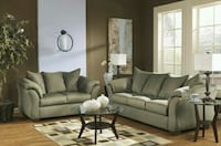 Darcy Sage Living Room Set   Houston