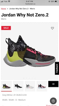 Russel Westbrook Signature shoes WhyNot zero.2  Toronto, M3A