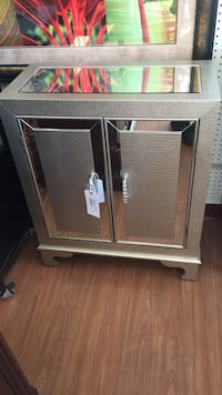 Silver mirrored cabinet modern looking new