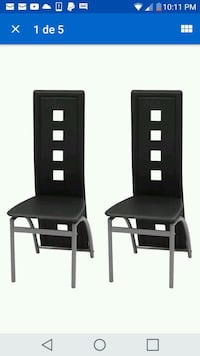 two black wooden armless chairs  Grand Island, 68801