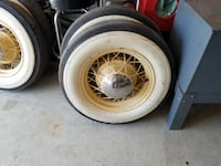 1934 Ford  Wire wheels and  tires.....like new Tybouts Corner @ P-N-R