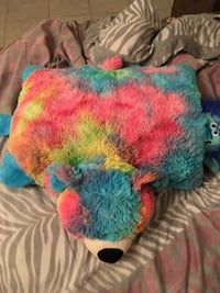 green, blue, and red plush toy FORNEY
