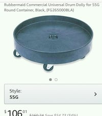 RUBBERMAID COMMERCIAL DRUM DOLLY Ormond Beach