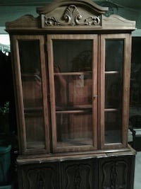 brown wooden display cabinet Fountain Valley, 92708