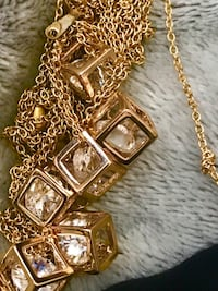 18k Gold Plated necklace with zirconia each $35 Mississauga, L5B 3K6