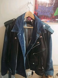 Crybaby leather jean jacket