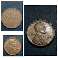1955 one cent united states of america coin collage Cleburne, 76031