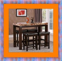 5pc Pub table with 4 stools brand new Rockville, 20847