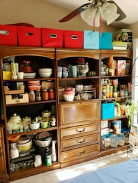 brown wooden cabinet with shelf Omaha, 68134