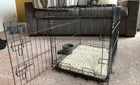 Small dog crate with memory foam pad and water cup Washington, 20012