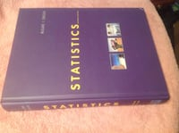 Statistics textbook and student solutions manual. McClave Sincich. Calgary, T2C 0P5