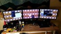 Triple 24 inch LCD monitors and arm Los Angeles, 90039