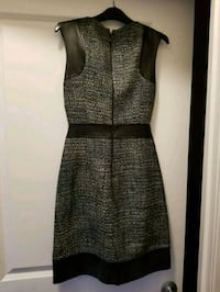 Laundry Mini Leather-trimmed Dress