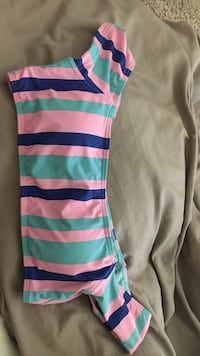 blue, yellow, and green stripe tank top Biloxi, 39532