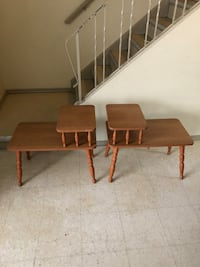 brown wooden table with two chairs Winnipeg, R2L 1P8