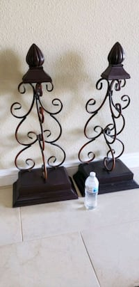 2 beautiful wood and metal decor $28.00 EACH. FIRM PRICE