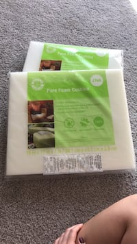 two white-and-green pure foam cushion packs Nashville, 37212