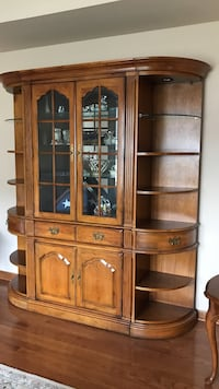 Thomasville genuine pecan cabinet and two end tables Bensalem, 19020