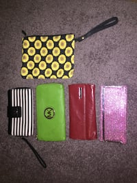 five assorted-color-and-pattern wallets Columbus, 43235