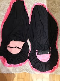 Black and pink textiles