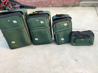 "4 piece Pierre Cardin Luggage set 28"" Suitcase  25"" Suitcase  22""Suitcase  And carry on bag Shaler, 15116"