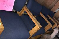 Blue office chairs  $10 ea or $70 for set of 8