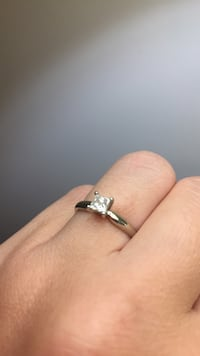 silver solitaire ring 3727 km