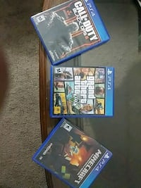 four assorted PS4 game cases Galt, 95632