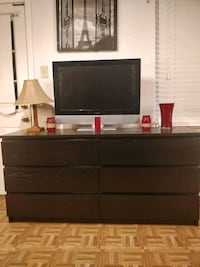 Nice Black long dresser/TV stand with big drawers  Annandale, 22003