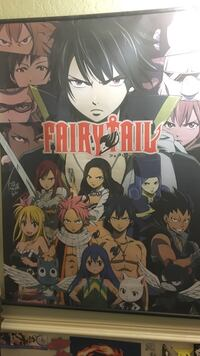 Autographed Fairy Tail Poster Wall Scroll Anime West Palm Beach