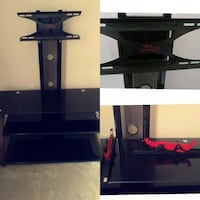 black wooden/glass TV stand with mount z line  Ocala, 34474