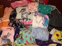 Huge Girls Kids Clothing Lot of 80 Clothes size 10 12 14 16 large xl