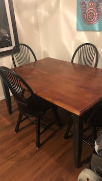 Rectangular brown wooden table with four chairs dining set Scottsdale, 85259