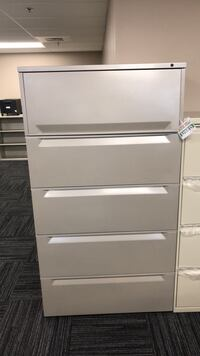 White metal 5-drawer Office Storage Cabinet Columbia, 21046