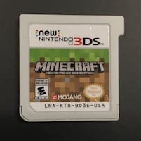Minecraft ONLY WORKS ON 3DS XL good condition still works